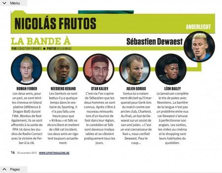 La Bande à Sébastien Dewaest (sportmagazine.be)