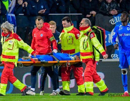 Sébastien Dewaest sort sur blessure lors du succès 2-4 à Ostende.